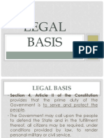 Legal Bases