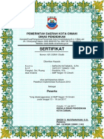 Format Sertifikat Smp Negeri 10 Cimahi Baru