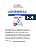 Carmen Llena, Nticariogenicity of Casein Phosphopeptide Amorphous Calcium Phosphate a Review of the Literature