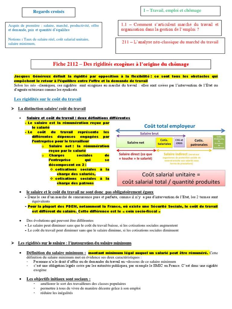 2112 Les Rigidites Source De Chomage Involontaire Doc Pdf