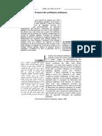 Analyse Des Politiques Publiques