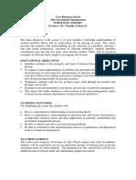 Course Outline for Portfolio Theory