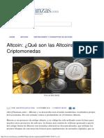 Altcoin_ ¿Qué Son Las Altcoins_ - Criptomonedas