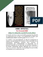 SOBRE EPITAFIOS (POR FERNANDO BÁEZ).pdf