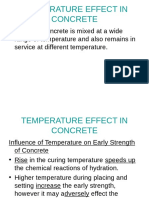Temperature and Effect on Concrete
