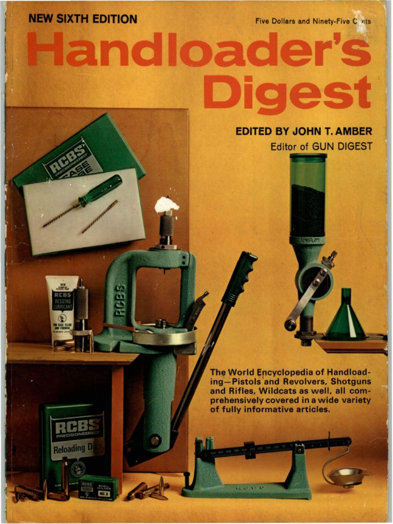 Reloaders Digest - 6th Edition - 1972 | Bullet | Projectiles