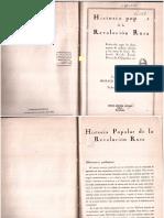 Historia Popular de La Revolucion Rusa - Horace Spitzmuller