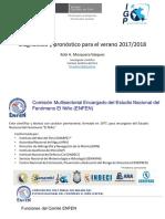 Perspectivas para El Niño - La Niña 2017 -2018 - IGP
