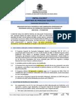 Edital 111 2017 Programa de Formacao Docentes