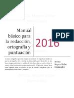 Manual Básico Para La Redacción Ortografía Puntuación
