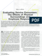 Evaluating Service Encounter the Effects of of Physical Surroundings and Employee Responses