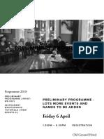Preliminary Programme — Consairtín