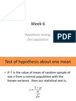 Week 6_Hypothesis One Pop Mean