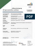 DVGW CE-0085BN0356 EKN Druckgeraeterichtlinie Gas VAG Bis 17.06.2022 De