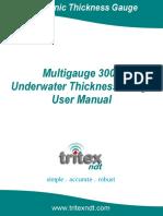 Multigauge 3000 Underwater Thickness Gauge User Manual