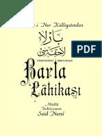 Said Nursi- Barla Lâhikası- Envar Neşr.1996