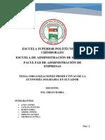 Organizaciones Productivas de La Economia Solidaria en El Ecuador (1)