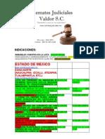 Listas de Remates Estado de México y Provincia