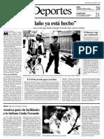 Miguel Indurain, en la página 18 de La Vanguardia de 30-8-1994