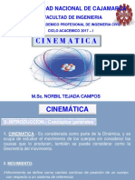 Cinematica - Fisica 2017-I
