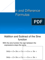 5.4 Sum and Difference Formulas