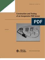 Construction and Testing PAR Sensor