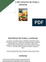 Beneficios Del Consumo de Frutas y Verduras