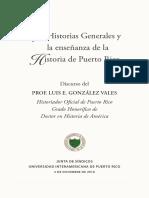 Las Historias Generales y La Enseñanza de La Historia de PR-LGV