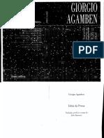 AGAMBEN, G. Idéia Da Prosa