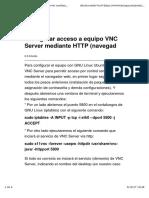 Configurar Acceso a Equipo VNC Server Mediante HTTP