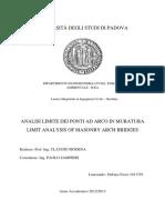 Analisi Limite Dei Ponti Ad Arco in Muratura_modena_unipd