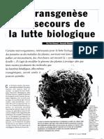 La Transgenèse Au Secours de La Lutte Biologique