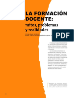Formacion Docente Mitos Problemas Realidades Maciel de Oliveira