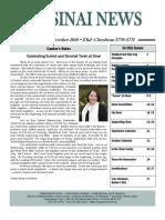 Sinai Newsletter - Sept-October10