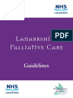 NHS Lanarkshire Palliative Care Guidelines