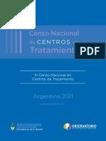 III Censo Nacional de Centros de Tratamiento 2016