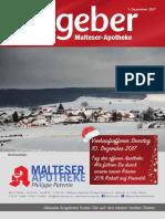 Ratgeber aus Ihrer Malteser-Apotheke – Dezember 2017
