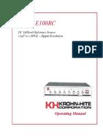 Krohn-Hite E100RC _um