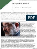 Umberto Eco - La cultura è anche capacità di filtrare le informazioni