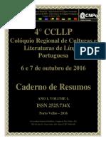 4° CCLLP - Colóquio de Culturas e Literaturas de Língua Portuguesa