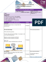 Lesson Plan Format-For and Since.