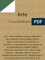 Arte y Su Clasificaciones Slide