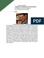 Mesa-redonda Articulando Saberes Na Formação de Professores - Paulinas 2018