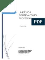 La Ciencia Politica Como Profesión