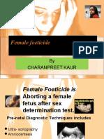 Female Foeticide Presentation