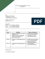 1st Term Assessment Week 1718 - UT Syllabuses