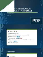 Curso de preparación Examen PMP®- Proceso de certificación