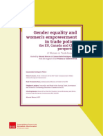 """Atti del convegno """"Gender equality and women's empowerment in trade policy"""