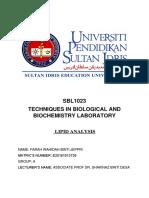 lab report 4 lipid
