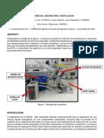 Informe destilación